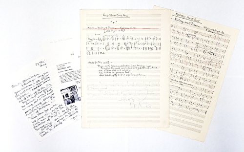Music manuscripts and letters  by Thomas Conway Brown