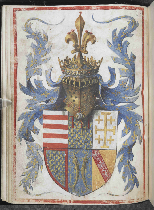 The coat of arms of René of Anjou