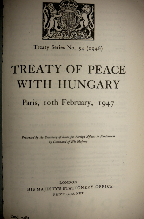 Treaty of Peace with Hungary
