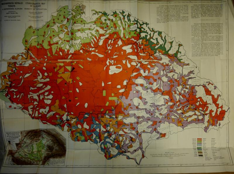 Count Paul Teleki - Ethnographic map of Hungary