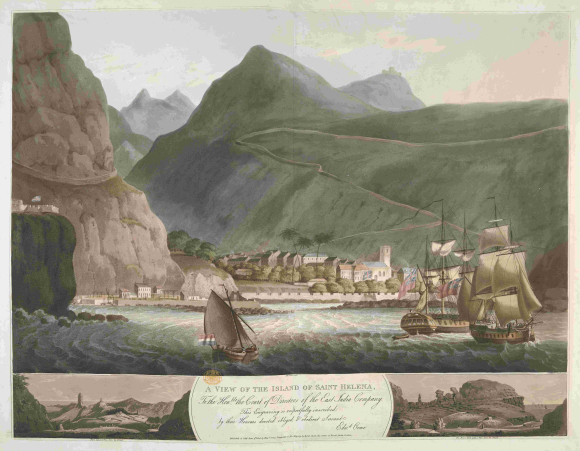 View of the Island of St Helena 1806