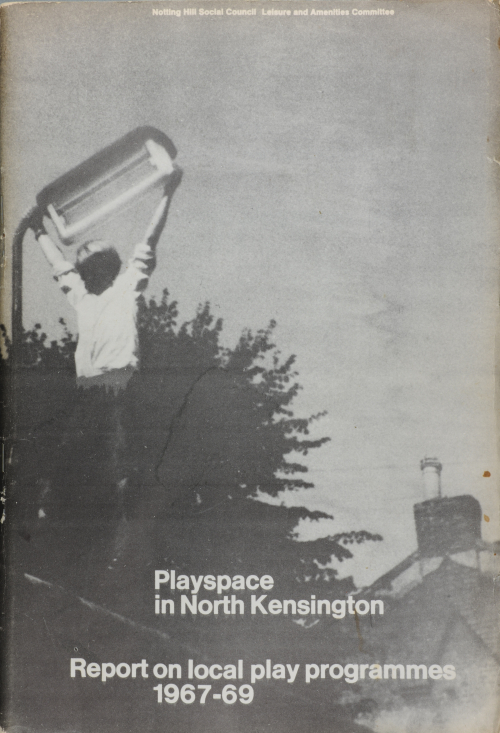 Photograph of pamphlet 'Playspace in North Kensington: Report on Local Play Programmes 1967-69)