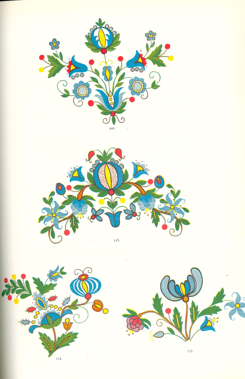Page with traditional Kashubian folk designs