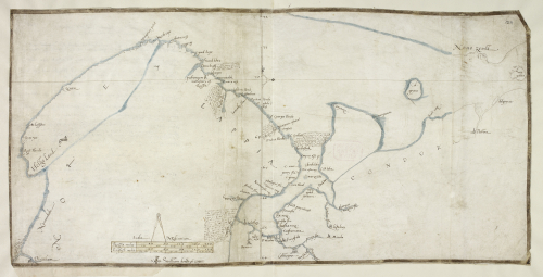A coloured manuscript map of the coasts of Norway, Lapland and North West Russia