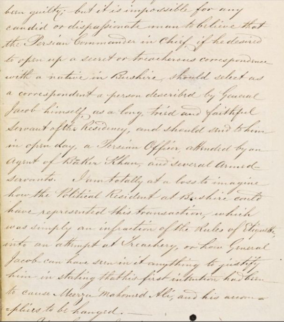 Extract from a letter from Murray to Lieutenant-General Sir James Outram