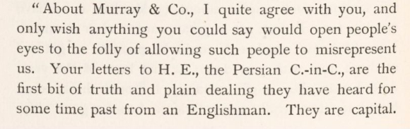Extract from a letter from Henry Bartle Frére, Governor in Sindh, to Jacob