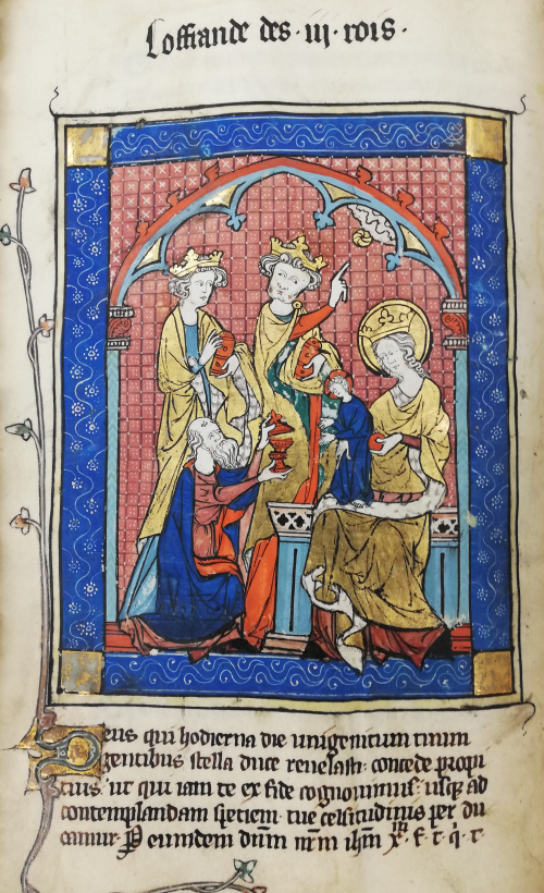 Image in a Psalter of the Adoration of the Magi