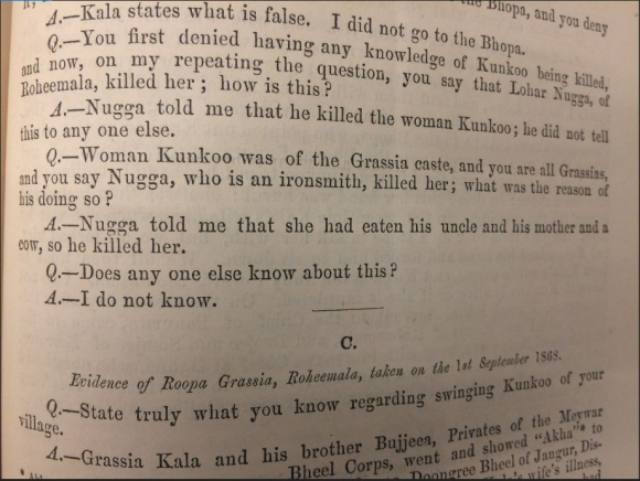 Report of the murder of Kunkoo
