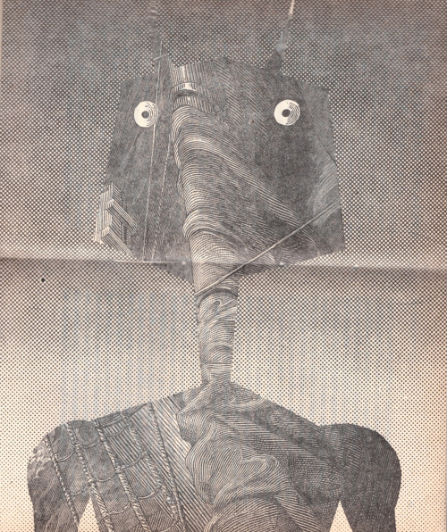 Illustration of an anthropomorphic robot from the Cyberiad by Stanislaw Lem