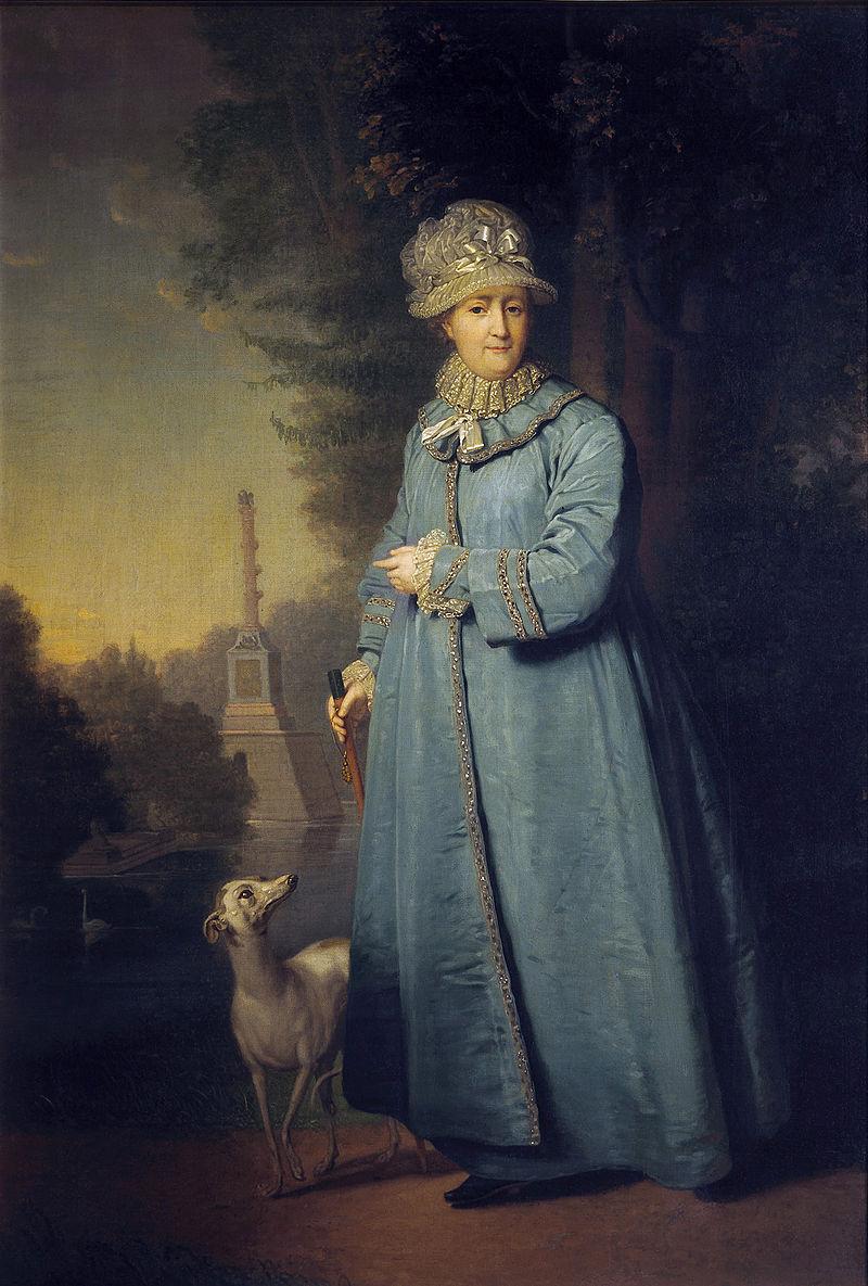 Catherine_II_walking_by_V.Borovikovskiy_(1794 _Tretyakov_gallery)