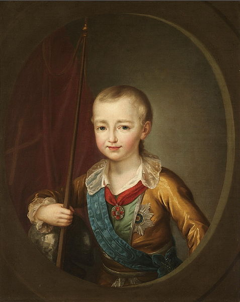 Portrait of Alexander I of Russia as a child