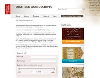 The British Library's Digitised Manuscripts website