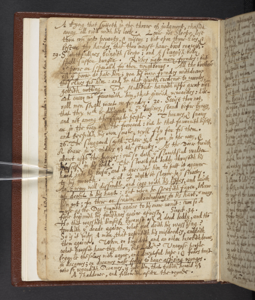 A manuscript page containing Harvey's advice about dreams and not making the same mistakes