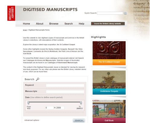 The British Library's Digitised Manuscripts website.