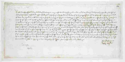 A letter from Margery Brews to her husband John Paston, dated to 1477.
