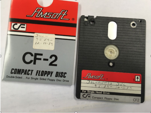 Photograph of Amsaft branded Floppy Disk form the Archive of Wendy Cope