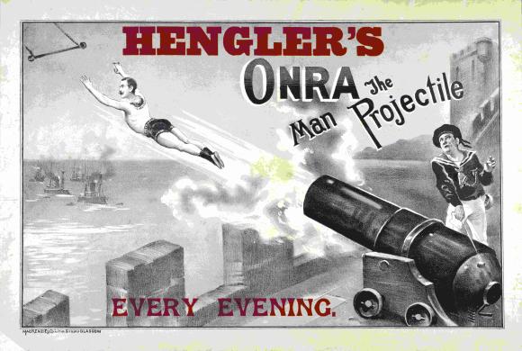 Hengler's Circus: 'Onra the man projectile'
