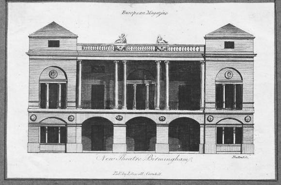 Theatre Royal in Birmingham around 1851