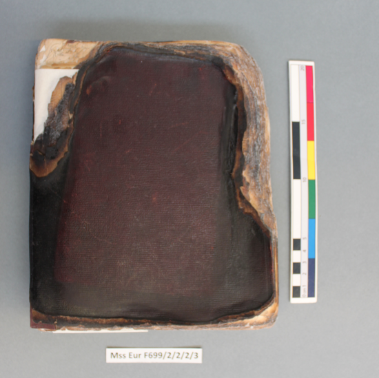 Charlotte Canning's diary F699 2/2/2/3 after treatment showing much improved binding