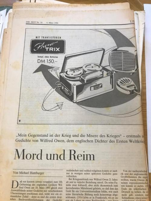 Die Zeit article by Michael Hamburger