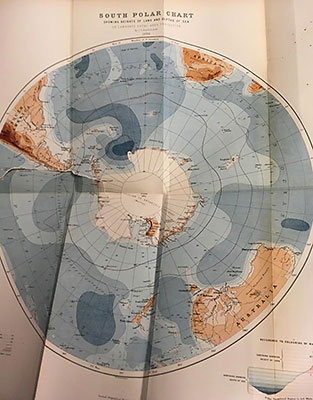 Chart of the south polar region published in 1886 in The Scottish Geographical Magazine