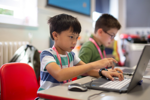 Children at Blue Shift Coding workshops