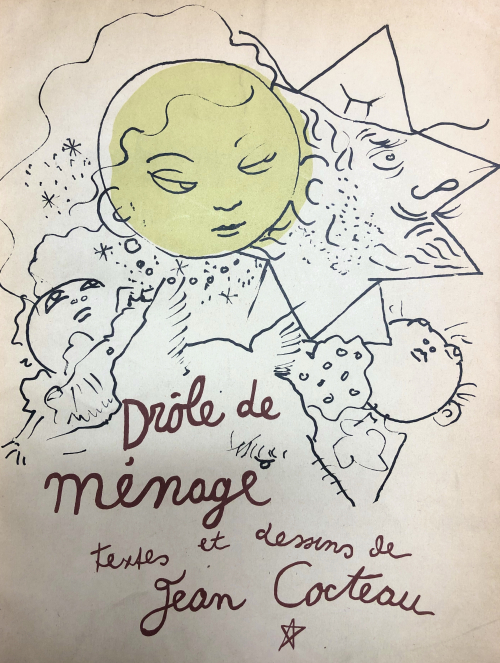 Cover of Drole de Menage with an illustration of the Sun, the Moon and their children