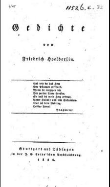 Title-page of Hölderlin's poems  1826