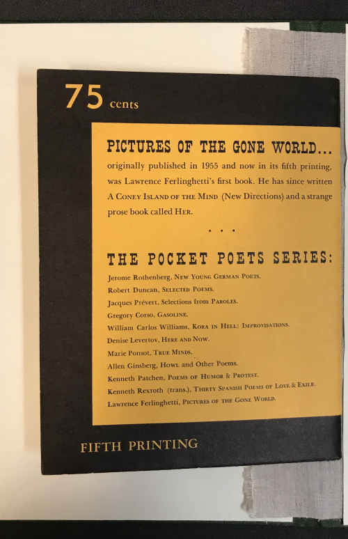 Pictures of the gone world back cover showing the price of 75 cents