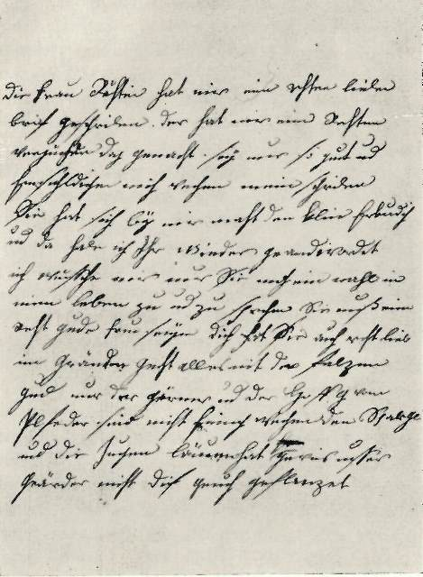Page of a letter from Christiane to Goethe