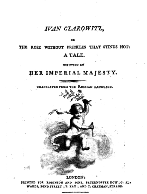 Title page of 'Ivan Czarowitz; or, the Rose without prickles that stings not...'