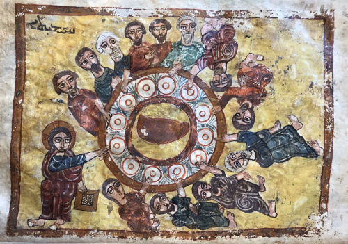 Image of the Last Supper from 12th century Syriac manuscript