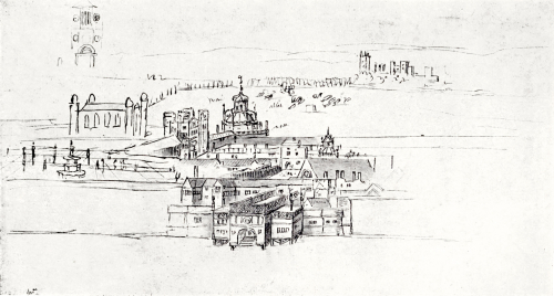 A sketch of the Palace of Whitehall made in 1544