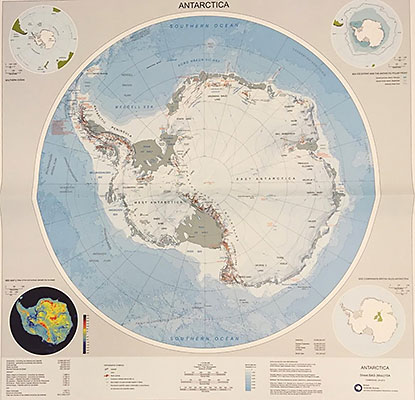 British Antarctic Survey map of Antarctica, 2015