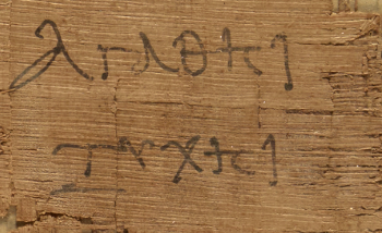 Detail of papyrus horoscope