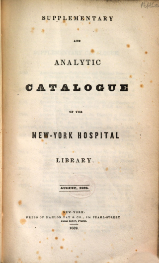 Supplementaryand analytic cataogue