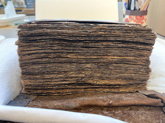 IO San 3251 fore edge after treatment
