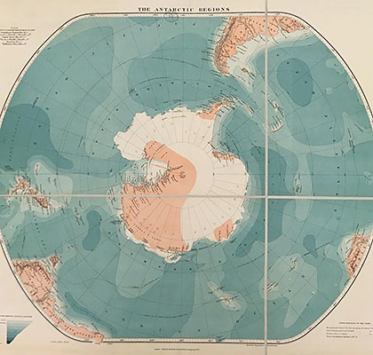 Map of the Antarctic Regions 1921