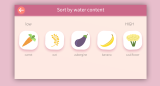 App screenshot of Baracat Bros Water Content