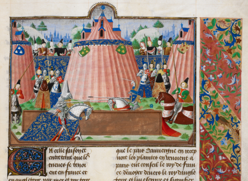 The tournament of Saint-Inglevert in the Harley Froissart