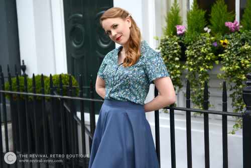 Model wearing Revival Retro outfit