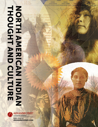 Promotional material for the digital resource 'North American Indian Thought and Culture'