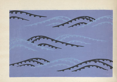 Kairo (One Hundred Patterns of Waves) by Kamisaka Sekka. Unsōdō