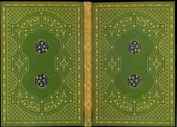Gladstone's binding of Alfred de Musset's 'On ne badine pas avec l'amour' with small flower and leaf motifs