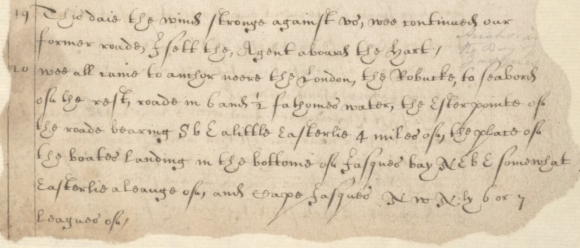 Richard Swan describes arriving at Bander-e Jask in December 1620