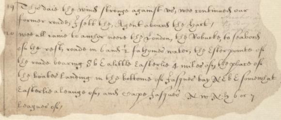 Richard Swan describes arriving at Bander-e Jask in December 1620