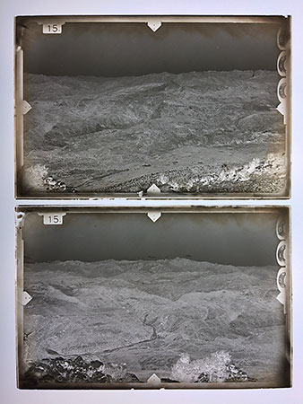 Glass plates used in terrestrial photogrammetry