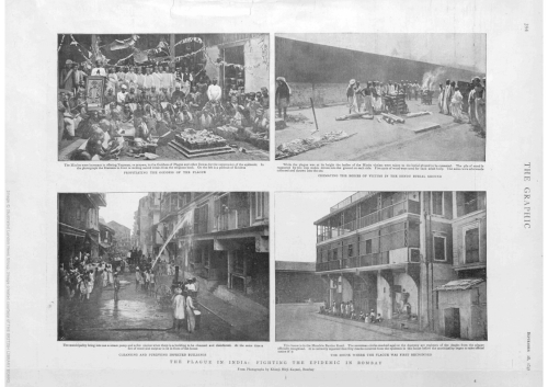 The Graphic Newspaper showing the reproduced photographs from the Bombay Plague Visitation album