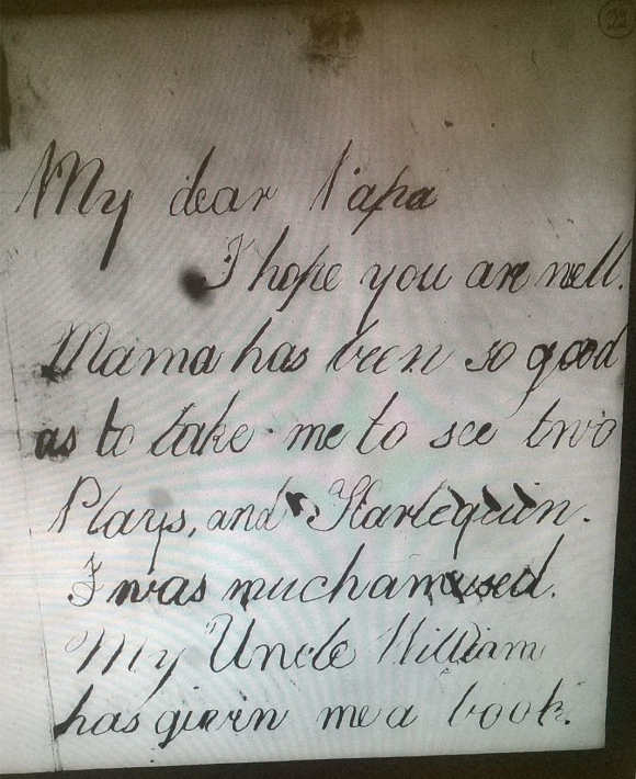 First page of a letter from Fanny to George Barlow  1808