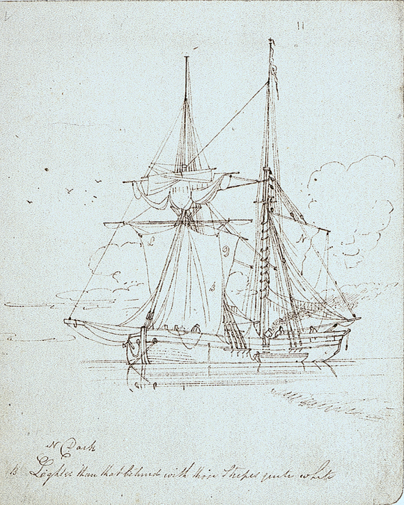 Brigantine by Oswald Walters Brierly - National Maritime Museum